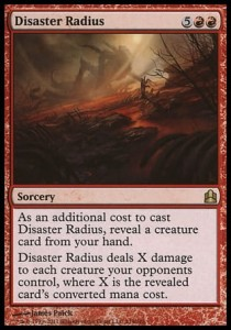 Disaster Radius (Commander)