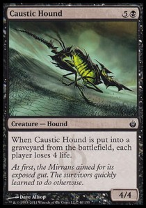 Caustic Hound (Mirrodin Besieged)