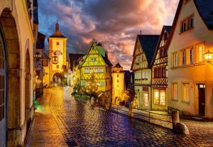 Rothenburg at Night - Puzzle 1000