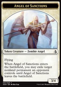 Angel of Sanctions Token (Amonkhet 01/25)
