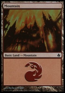 Mountain # 34 (Fire and Lightning)