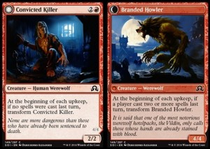 Convicted Killer / Branded Howler (Shadows over Innistrad)