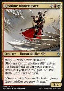 Resolute Blademaster (Battle for Zendikar)