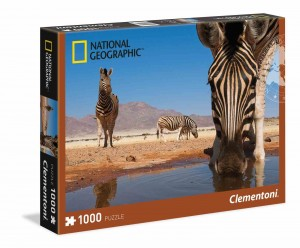 National Geographic Zebra drinks - Puzzle 1000