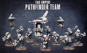 Tau Empire - Pathfinder Team - WH 40K
