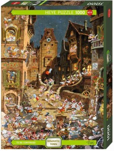 Michael Ryba - Romantic Town By Night - Puzzle 1000