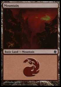 Mountain # 32 (Fire and Lightning)